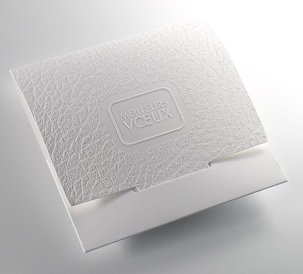 Carte de vœux TANIN BLANCHE de CREIDEO