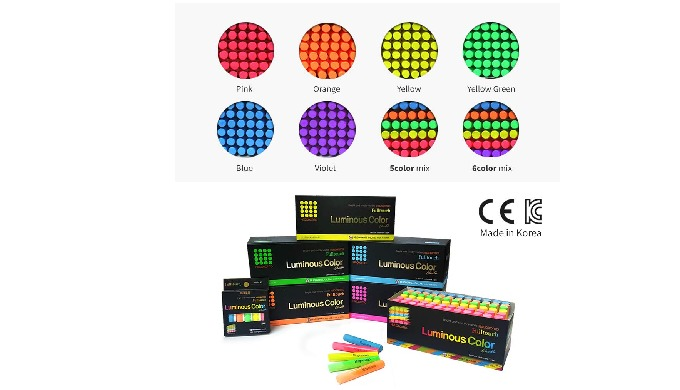 Fulltouch Luminous Color Chalk [72 pcs/Color Name]/1 BOX