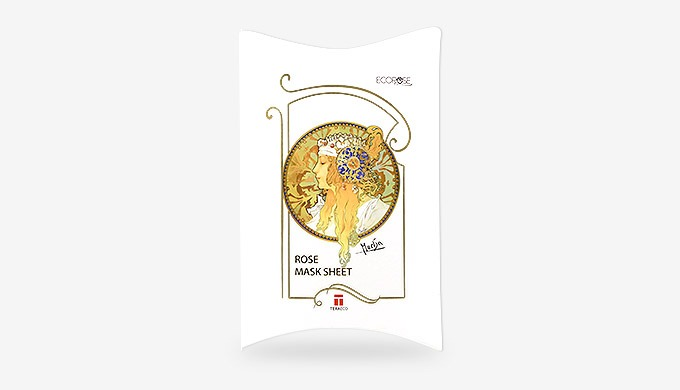 Rose Mask Sheet with Mucha art