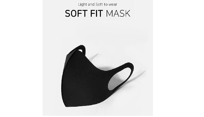 SoftFit Mask - Black (Face Mask)