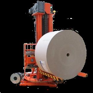 Manipulátor pro přepravu papírových rolí slouží k přepravě papírových rolí k linkám a případnému odv...