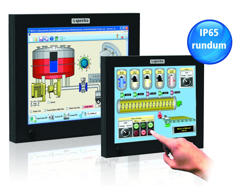 Mit den Industrie-Monitoren der IP-line stellt Spectra eine neue Monitorserie für industrielle Anwen...