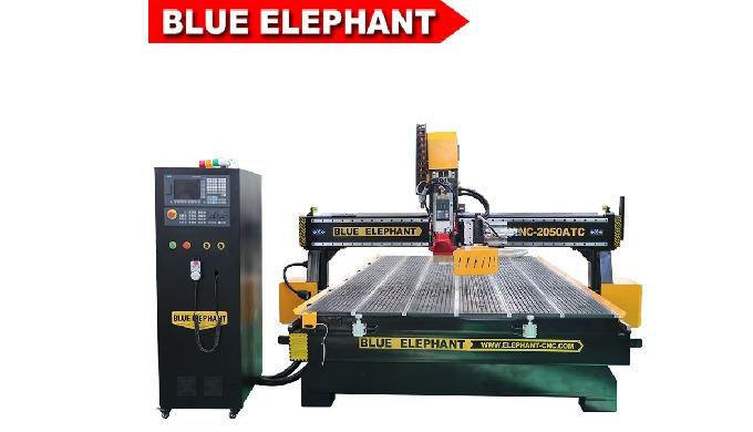 Blue Elephant 2050 atc Carousel tool change cnc milling machine modelling for Wood Door Making