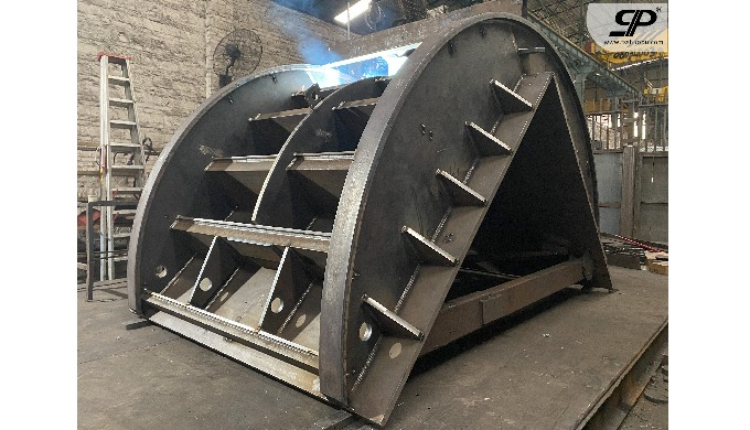 OEM heavy duty steel parts for Turn over moulding machine 1. steel plate: thickness is not limited -...