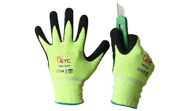 [Cut 5 NBR Gripmaster_TGM-763YF] MULTI-INDUSTRIAL GLOVES