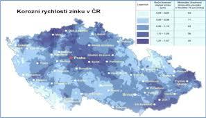 Korozní mapy regionální