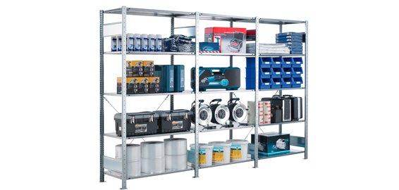 Køb dit lagerinventar hos SSG. Vi kan tilbyde alt indenfor reoler, arbejdsborde, skuffesektioner, la...