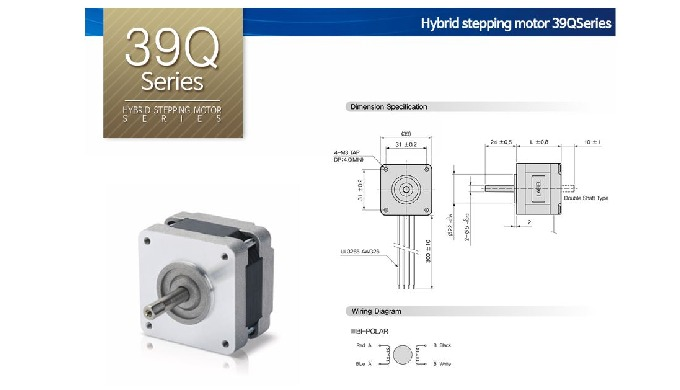 Hybrid stepping motor_39Q Series l gearhead hybrid stepping motor