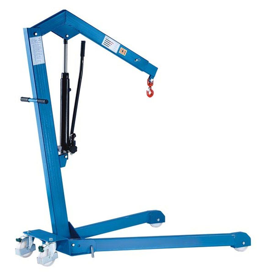 Tragfähigkeit 500 kg, Fahrgestell gespreiztMit einfach wirkender Hydraulik-Pumpe (Pumphebel in eine ...