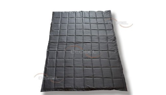 Soundproofing curtain DBB is made of soundproofing membrane and two - sided sound absorbing wadding....