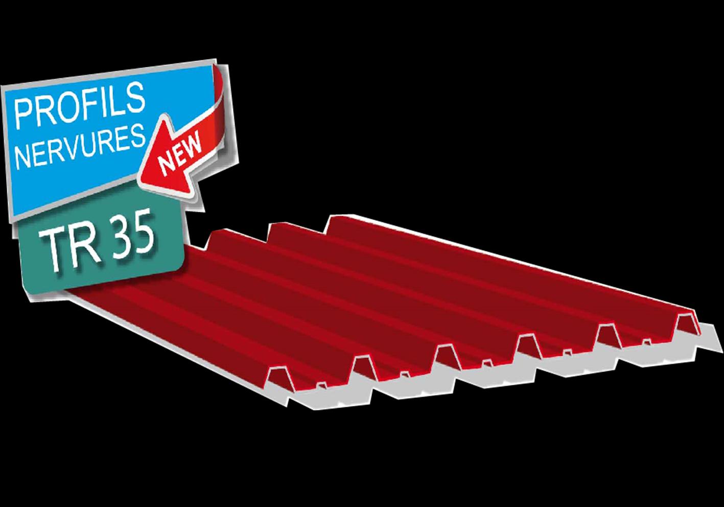 PROFILS NERVURES TR35
