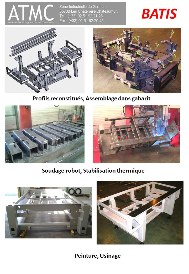 Profil reconstitué, assemblé dans un outillage, Soudage robot, stabilisation thermique, peinture et ...