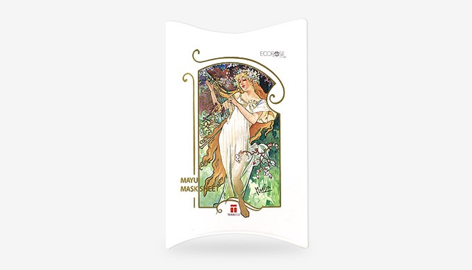 Mayu Mask Sheet with Mucha art