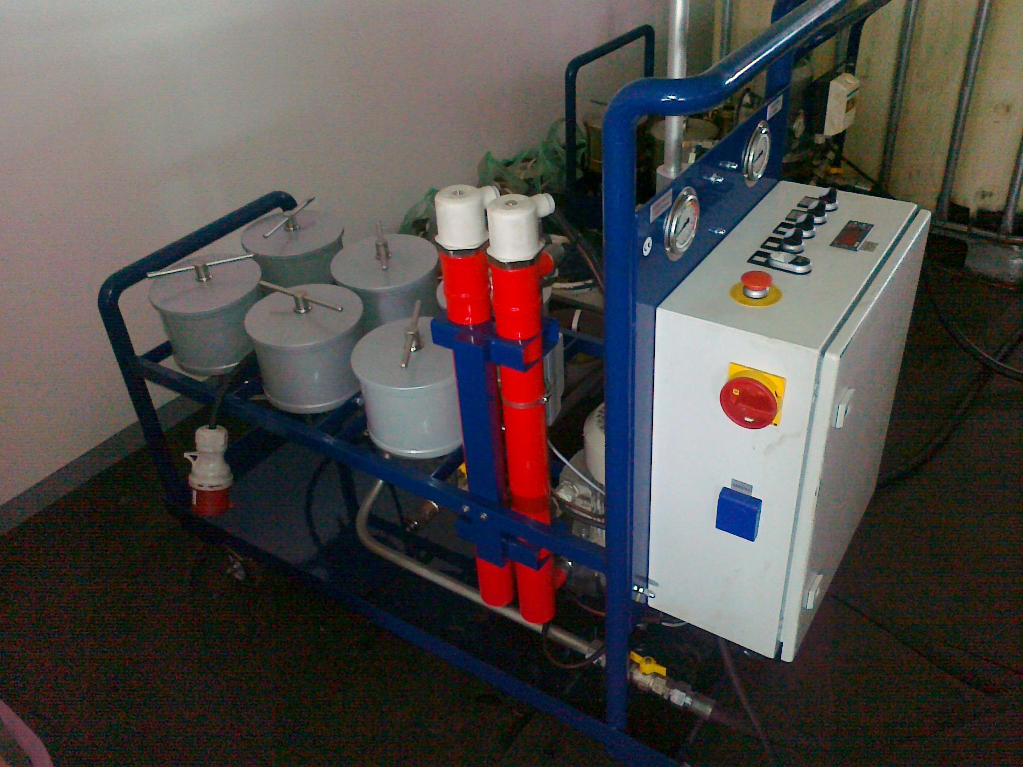 Filtrace olejů - tribotechnické služby