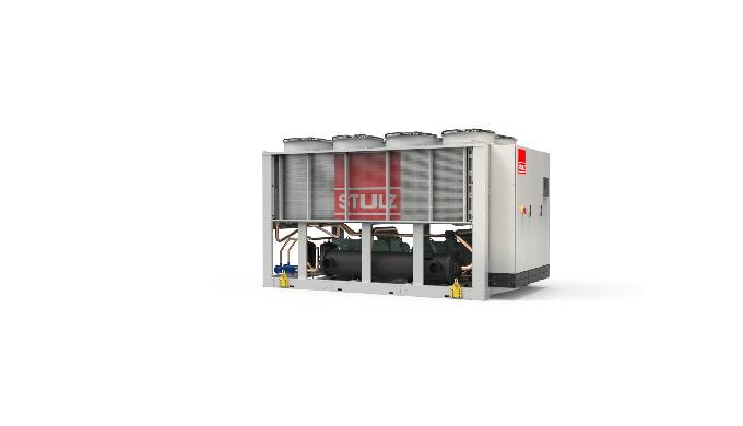 Chiller ad aria con potenza frigorifera da 210 a 1260 kW.