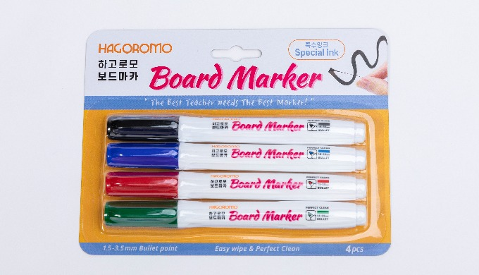 White  Board Dry Erase Board  Marker [4 pcs/4  colors]/1 PACK