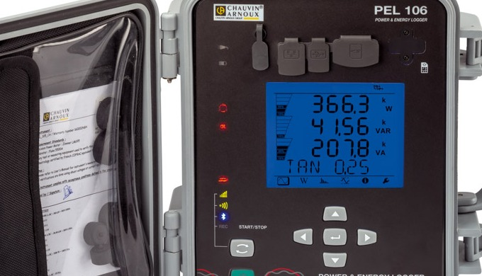 Le logger de puissance PEL106 mesure et enregistre toutes les données utiles pour un diagnostic des ...