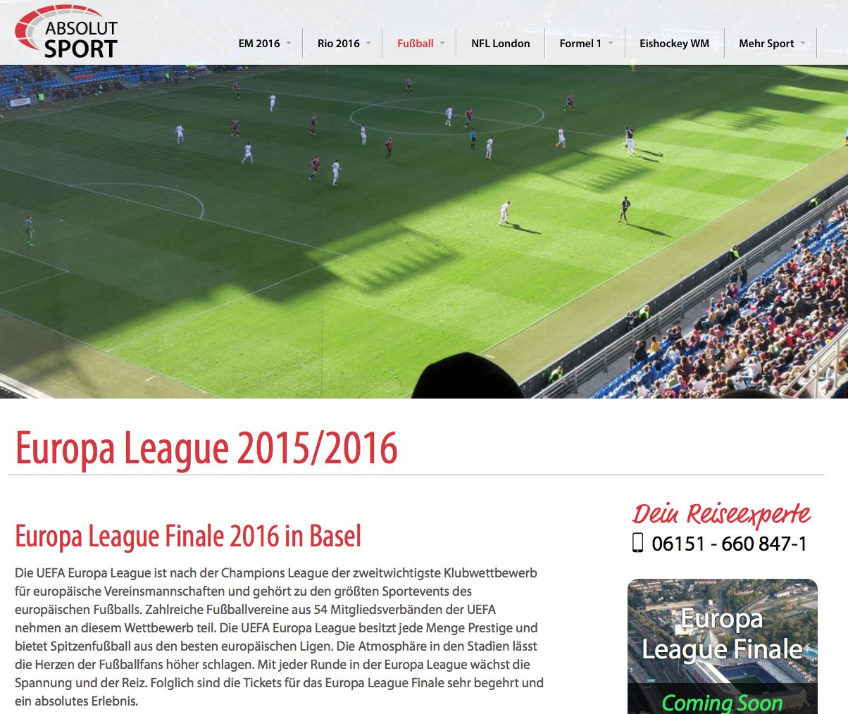 Am 18. Mai 2016 wird Basel Austragungsort eines der größten Ereignisse des Klubfußballs. Absolut Spo...