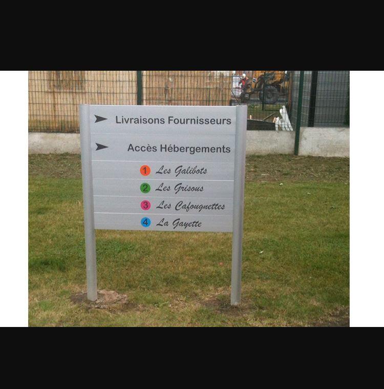 Panneau directionnel Pano Sign'service