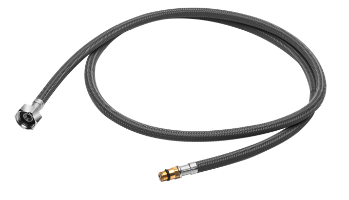The nut at both ends of the hose is made of reinforced stainless steel. Anti-aging, anti-rust and ex...