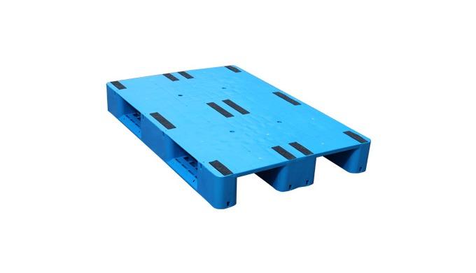 Palette en plastique robuste réutilisable dotée d'une surface antidérapante pour le chargement, la p...