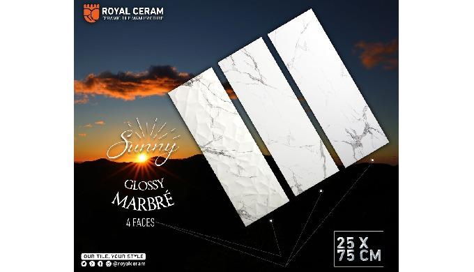 Size: 25x75cm Color: Marbré Decor: Diamond Decor Type: Wall tiles