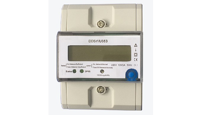 This is a single-phase prepaid meter with GPRS communication, built-in magnetic relay. power-on auto...