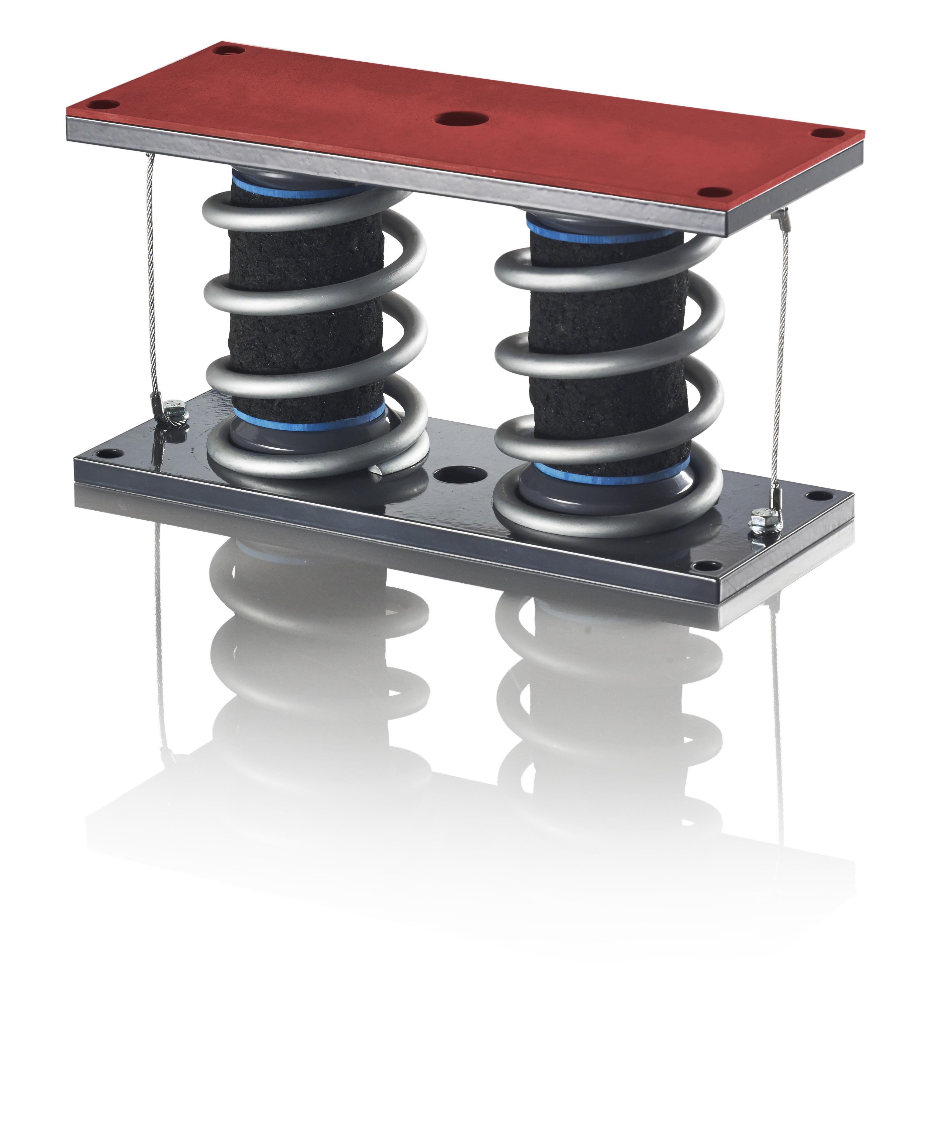 isoloc Feder-Dämpfer-System FEDAM (pat.) für die Schwingungsisolierung, vorzugsweise zur Empfängeris...