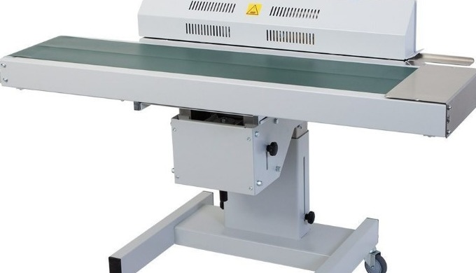 The Audion D552 AH continuous belt sealer is perfect for the sealing of flat bags conveniently and a...