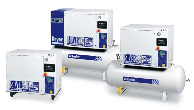 Odhlučněné šroubové kompresory NEW SILVER od 2,2 do 37 kW: jednoduché, úsporné, přesto technicky vys...