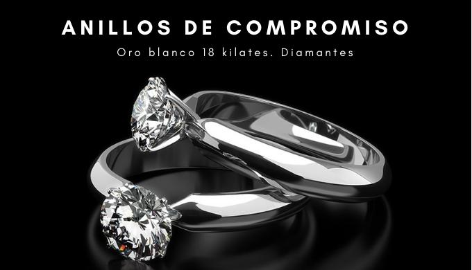 Anillos de compromiso con diamantes. Anillos de pedida de matrimonio