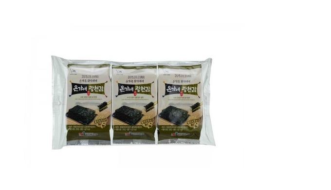 Ongaae Gwangcheon Laver Assaisonné(Sea Lettuce Laver) l laverie de haute qualité