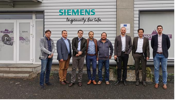 Mezinárodní jednání se společností Siemens