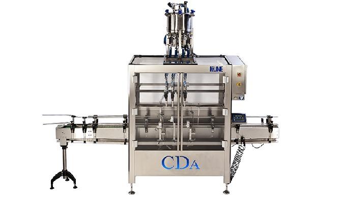 Conçue par CDA, la K-Line est une remplisseuse et visseuse automatique, qui permet le conditionnemen...