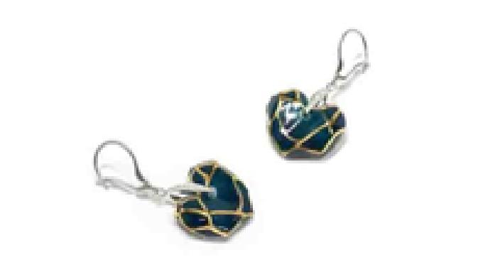 CERASILVER_Ceramic Heart Pendant