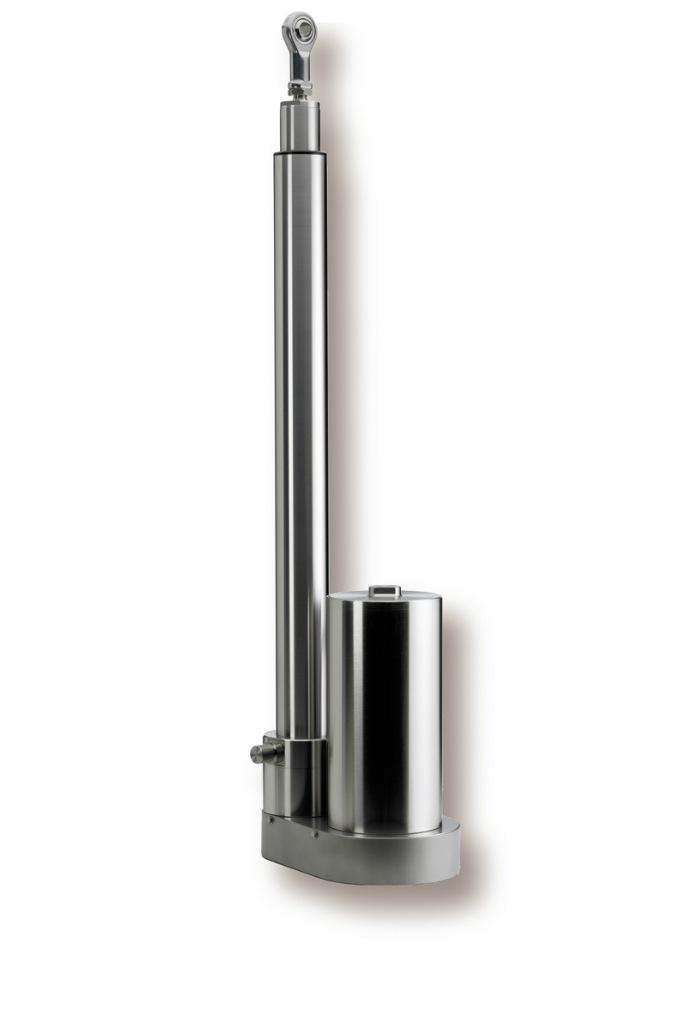 Vores rustfri aktuator med tandremstræk er konstrueret i rustfrit stål i et hygiejnisk design, der g...