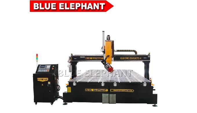 Router de madeira automático ELECNC-2646ATC-4 alto com o eixo refrigerar de ar de 9kw HQD