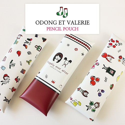Odong et Valerier Pencil Pouch Pastel. size 7.5 x 21 cm. The five kinds of products. The material is...