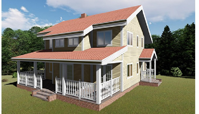 Prefabricated wooden frame houses, modular and small houses, mobile homes and tiny houses. Industria...