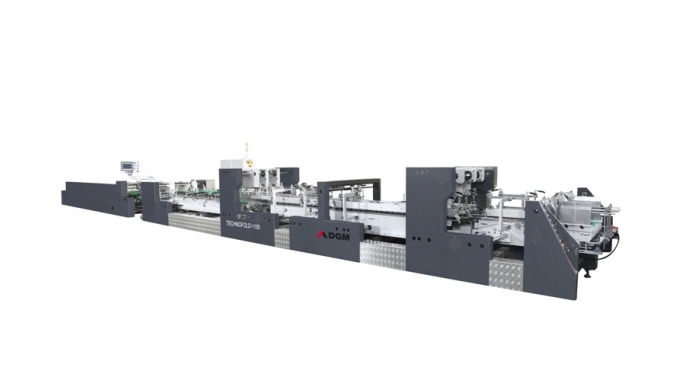 High speed automatic folder gluer TECHNOFOLD 800 – AC without pre-folding section. Suitable for stra...