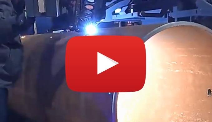 Corte de camisas en tubo de  acero de 813mm