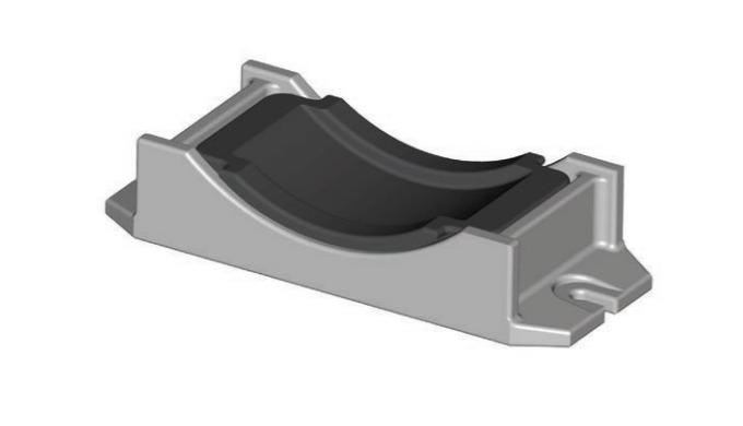 Wibroizolatory to elementy sprężyste gumowometalowe służące do tłumienia drgań w zakresie wartości c...
