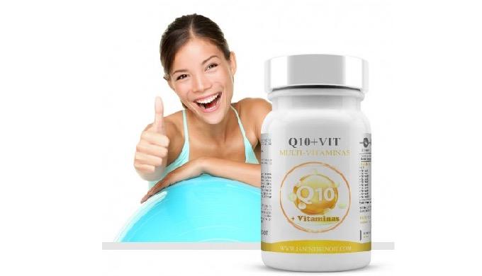 Q10 + Vitaminas es un complemento alimenticio natural en cuya composición destaca de forma predomina...