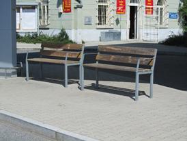 Městský imobiliář - lavičky, stojany na kola, zábradlí, stojany odpadkových košů