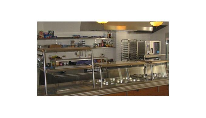 Tejghele de servit, incalzite, pentru catering.