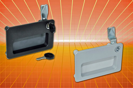 The Elesa GN 115.10 recessed pull handle allows 2-in-1 fitment of pull handle and latch in a robust ...