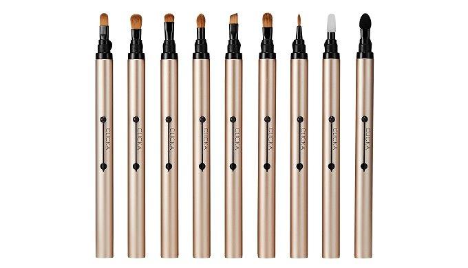 CLICKA Auto Lid Makeup Brushes | Pairgreen Inc.