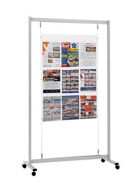 Idéal pour afficher et communiquer dans: salle d'exposition, hall d'accueil, agence, vitrine, là où ...