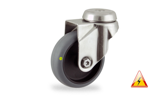 Swivel castor 100mm castor with hole fiting