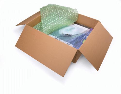 Le film à bulles FastWrap est pré-perforé tous les 15 cm pour réduire le gaspillage et permettre à l...